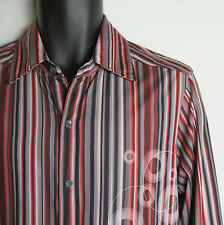 KENNETH COLE NEW YORK Shirt Men's Small Retro Long Sleeve Button Front Stretch