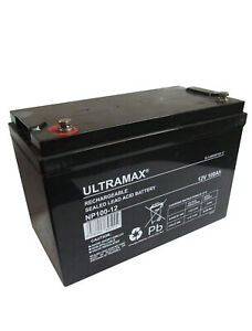 2 x ULTRA MAX 12V 100Ah (as 90Ah & 95Ah) - MOBILITY SCOOTER WHEELCHAIR BATTERIES