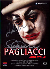 DVD Placido DOMINGO & SLATKIN Signed LEONCAVALLO PAGLIACCI Villarroel Zeffirelli