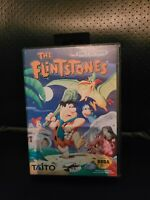 The Flintstones (Sega Genesis, 1993) With Case TAITO RARE Hanna Barbera HTF