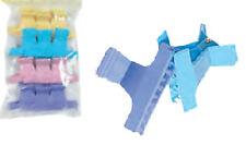 Pince cheveux croco coloris assortis sachet de 12 pièces de 6 cm (coupe couleur)