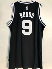 Adidas Swingman NBA Jersey BOSTON Celtics Rajon Rondo Black Black & White sz 2X