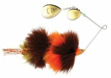 "Blue Fox Vibrax Super Bou Spinnerbait 8 Brown Orange SBOSB8-BRO 8 1/4"" Musky"