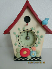 Mary Engelbreit Birdhouse Desk Clock (Rare Find)