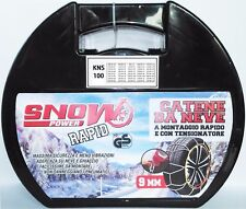 Catene da neve  9 mm Omologate  GRUPPO 100 ( x le misure vedere la descrizione )