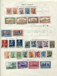 ITALY: 1923-1926 Examples - Ex-Old Time Collection - 2 Sides Page (42905)