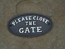 Guardian Angel Iron Plaque - Cast Metal Door Wall Sign /Home & Garden Gift /Shed