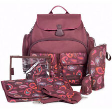 Brand new in bag Babymoov glober baby changing bag with changing mat in cherry