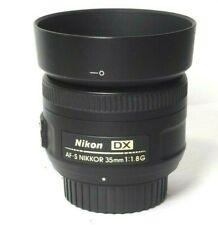 Nikon Nikkor AF-S DX 35mm f/1.8 F/1.8G f1.8G Lens with Caps & Hood. EXCELLENT+