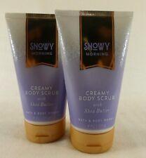 2 Snowy Morning Creamy Body Scrub With Shea Butter Bath & Body Works 8 Oz