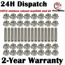 16x stainless exhaust manifold stud kit for 2 manifolds for Ford F-150 4.6 5.4L