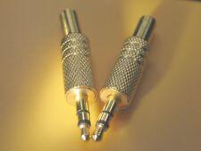 AUX 3,5mm, Klinkenstecker 3,5mm, Audio Stereo, zum löten 2 Stück,vergoldet