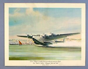 PAN AM VINTAGE FIRST CLASS AIRLINE MENU BOEING B314 DIXIE CLIPPER FLYING BOAT PA