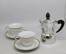 D'Lusso, Set of 2 Gold Espresso cups & saucers,in a gift box