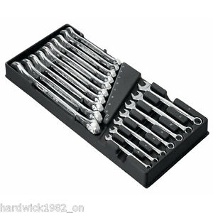Facom Tools 17 Piece Combination Spanner Wrench Tool Set 6mm - 24mm