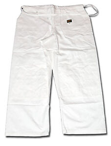 Wide-fit Shogun white JUDO gold quality trousers, 100% cotton - SPECIAL OFFER