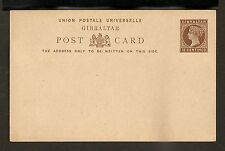 Gibraltar Postal Card - H&G #17 Mint VF - 1889 15 Centimos Queen Victoria