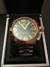 TW STEEL: CB62. CANTEEN. 50mm. Green Face. Silver & Gold. BNWT. 50 Percent Off