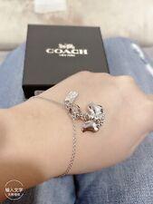 NWT Disney X Coach 91399 Dumbo Toggle Bracelet Silver $148