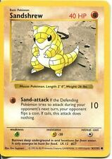 Pokemon Base Set Shadowless Common Card #62/102 Sandshrew