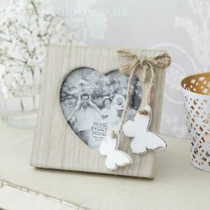 Mini Double Butterfly Heart Cut out Photo Frame Photo Holder