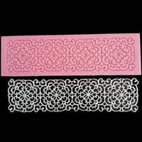 Lace Flower Embossed Mat Silicone Fondant Cake Decorating Sugarcraft Mould Mold