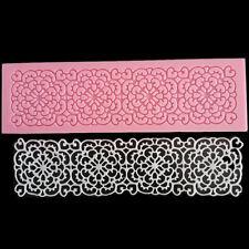 Lace Flower Silicone Fondant Chocolate Cake Decorating Sugarcraft Mat Mould Tool