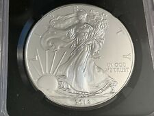 2012 USA .999 Fine 1oz Silver Eagle Coin Early Release 25th Anniversary NGC MS70