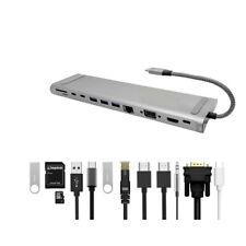12 in 1 Type C Laptop Docking Station USB 3.0 HDMI VGA PD USB Hub 4K For MacBook