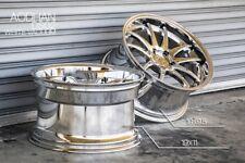 19x9.5/11 Aodhan DS02 5x114.3 +22 Vacuum Chrome Rims Gs300 400 G35 Supra Rx7