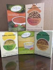 Ideal Protein Lot of 5 boxes of variety of foods - FRESH dating - FREE Shipping