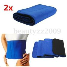 2X Slimming Exercise Waist Sweat Belt Wrap Tummy Fat Burner Neoprene Cellulite