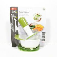 New OXO Tot Food Masher, Green Baby Food Maker Nesting Bowl, BPA & PVC Free