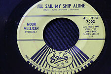 "MOON MULLICAN 45rpm ""I'll Sail My Ship Alone"" & ""New Jole Blon"" Starday Records"