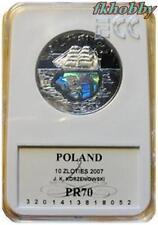 Poland 2007 silver 10 zl K Korzeniowski Joseph Conrad Statek Schiffe Ship PR70