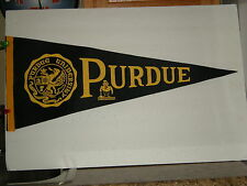 Vintage Late 60s Early 70s Full Size Felt Purdue University Boilermakers Pennant