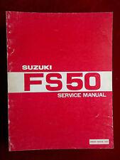 Owners Service Repair Manual SUZUKI 1980 FS50 FS 50 S493