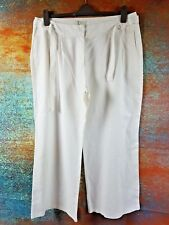 WOMENS LINEN TROUSERS SIZE 18 MARKS AND SPENCER  NEW