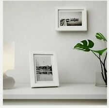 """BRAND NEW! IKEA Ribba white Picture Frame 4""""x6"""" Matted"""