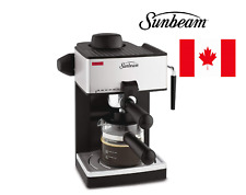 Sunbeam 4-Cup Steam Espresso , cappuccino and latte Maker coffee machine New