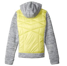 Obermeyer Girls Sasha Hybrid Insulator Jacket, X-Large, Daffodil