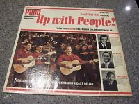 """Up With People"" LP JOHN WAYNE, PAT BOONE, COLWELL BROTHERS #1101 FIRST PRESS"