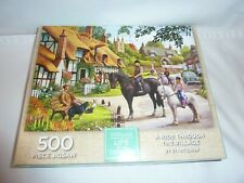 Jigsaw A Ride Through The Village 500pieces WH Smith Life in thecountry.COMPLETE