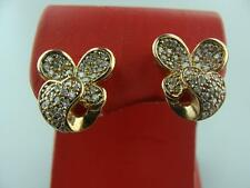 Vermeil and Cubic Zirconia Butterfly-Shaped Stud Earrings