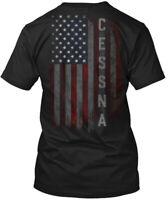 Cessna Family American Flag Hanes Tagless Tee T-Shirt