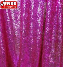 Fuchsia Sequin Fabric, Hot Pink Glitters Sequin Fabric by the yard-SQHP