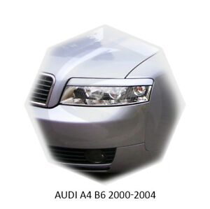 For Audi A4 B6 Eyebrows Eyelids Headlight Cover Eye Line 2000-2004 Set
