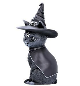 Purrah Witches Hat Occult Cat Figurine Statue Gothic Ornament NEW IN