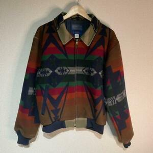 PENDLETON Auth Native Pattern Jacket Men Size M Made in USA Used from Japan