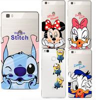 HUAWEI P8 P9 Lite 2017 P10 Soft Silicon Cartoon Cover Case Minnie Mickey Minion